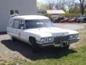 1972 Cadillac Miller Meteor Hearse,  Very hard to find Hard top in white